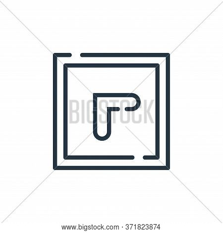 top left icon isolated on white background from  collection. top left icon trendy and modern top lef