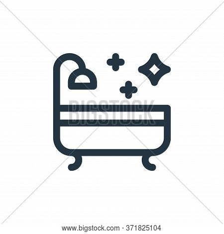 Bath Vector Icon Isolated On White Background.