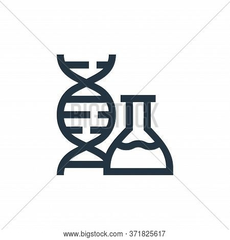 dna icon isolated on white background from  collection. dna icon trendy and modern dna symbol for lo
