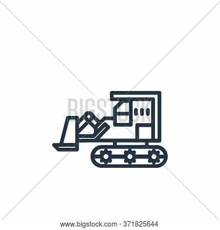 bulldozer icon isolated on white background from  collection. bulldozer icon trendy and modern bulld