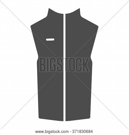 Sport Vest Solid Icon, Outdoor Clothing Concept, Sleeveless Jacket Sign On White Background, Waistco
