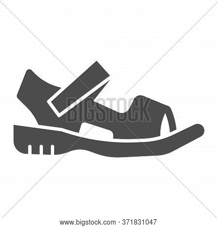 Sandals Solid Icon, Summer Shoes Concept, Sandal Sign On White Background, Light Summer Shoe Icon In