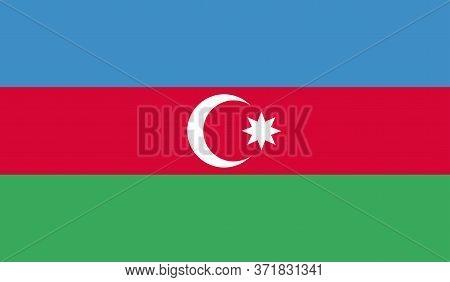 Azerbaijan Flag, Official Colors And Proportion Correctly. National Azerbaijan Flag. Vector Illustra