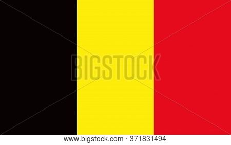 Belgian Flag, Official Colors And Proportion Correctly. National Belgian Flag. Vector Illustration.