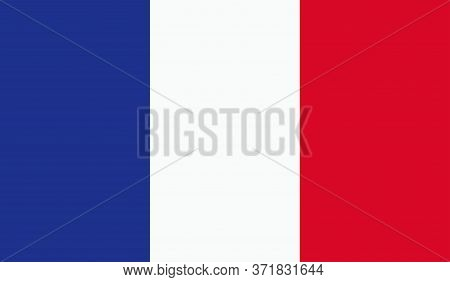 French Flag, Official Colors And Proportion Correctly. National French Flag. Vector Illustration. Fl