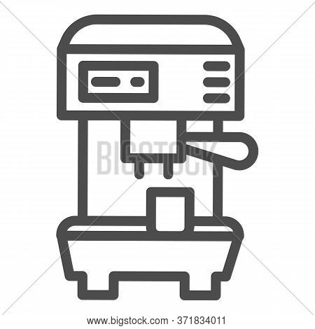Coffee Machine Line Icon, Household Appliances Concept, Electric Appliance For Making Coffee Sign On