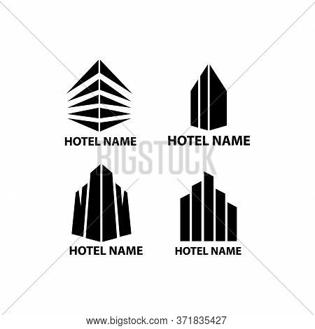 Collection Of Simple Hotel Logo Designs, Hotel Logos For Business,company Name, Web, Phone, Hotel Lo
