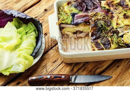 Gratin With Cabbage And Potatoes