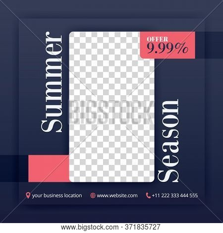 Summer Collection Offers And Discounts For Social Media Posts. Can Be Used For Website Ads, Landing