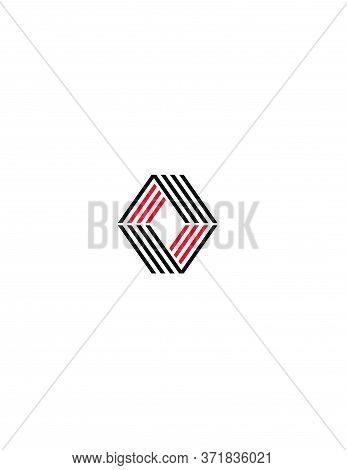 Av, Va, Aov, Oav, Ova Initials Geometrical Logo And Vector Icon