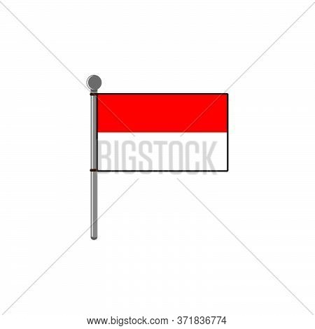 Indonesian Flag Vector Design Template Illustration