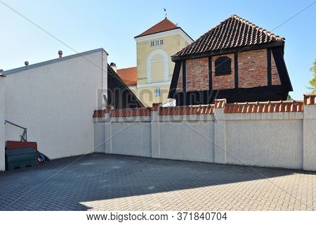 Architecture Of Old Town At Ventspils, Latvia. Ventspils Is A City In Northwestern Latvia In The His
