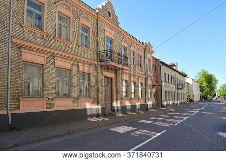 Ventspils, June 02: Old Town Street On June 02, 2020 At Ventspils, Latvia. Ventspils Is A City In No