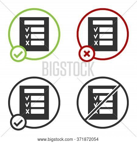 Black Car Inspection Icon Isolated On White Background. Car Service. Circle Button. Vector