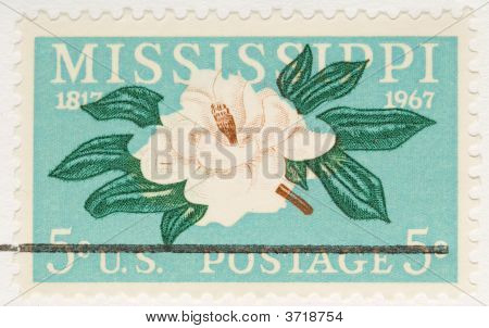Vintage 1967 Stamp Mississippi Anniversary