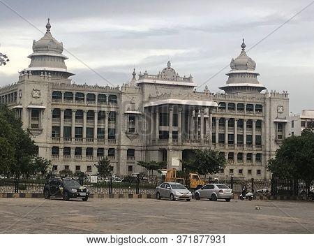 Bangalore, Karnataka/india : June 6, 2018 - Vidhana Soudha, Bangalore