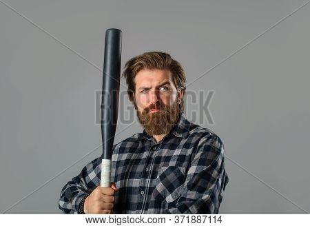 Baseball. Man With Baseball Bat. Man Swung The Bat. Baseball. Sport Bat. Sport Equipment. Baseball P