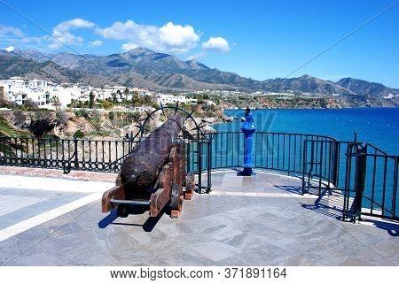 Canon Along The Balcony Of Europe (balcon De Europa) Pointing Towards The View Along The Coast, Nerj