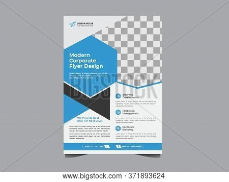 Modern Business Flyer Design Template For Poster Flyer Brochure Cover. Graphic Design Layout With Tr