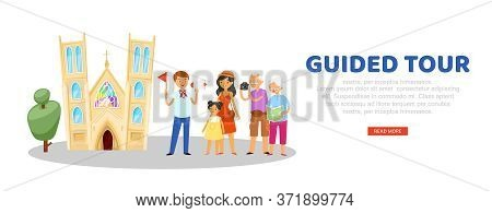Tour Guide, Advertising Banner, Tourist Website, Travel Information Portal, Journey Vacation, Cartoo