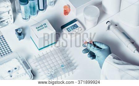Novel Coronavirus 2019 Ncov Rt-pcr Diagnostics Kit. It Contains Reagents, Primers And Control Sample