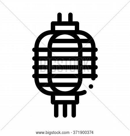 Chinese Lantern Icon Vector. Chinese Lantern Sign. Isolated Contour Symbol Illustration