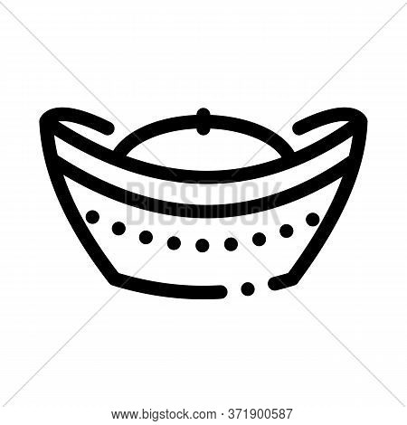 Hat With Top Curled Up Icon Vector. Hat With Top Curled Up Sign. Isolated Contour Symbol Illustratio