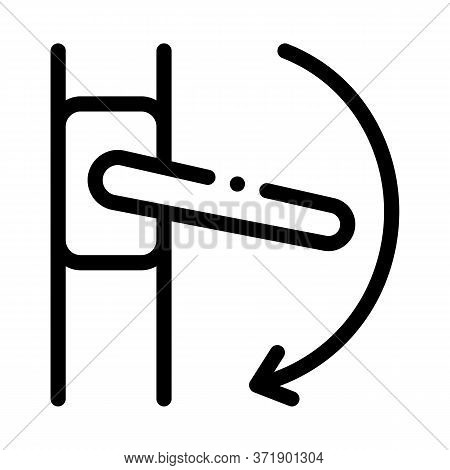 Push Handle To Open Window Closure Icon Vector. Push Handle To Open Window Closure Sign. Isolated Co