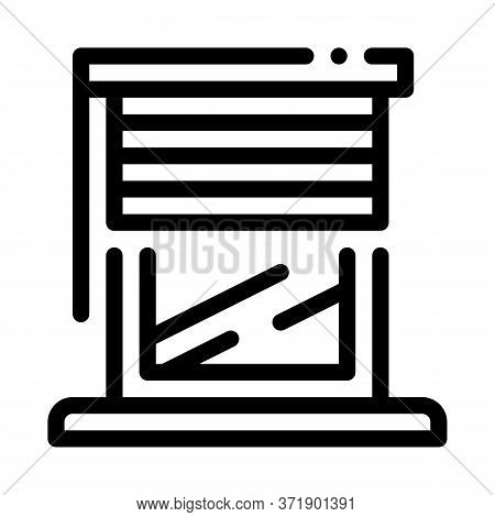 Window With Shutters Icon Vector. Window With Shutters Sign. Isolated Contour Symbol Illustration