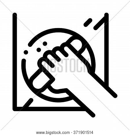 Window Control Handle Icon Vector. Window Control Handle Sign. Isolated Contour Symbol Illustration