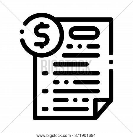 Monetary Agreement Icon Vector. Monetary Agreement Sign. Isolated Contour Symbol Illustration