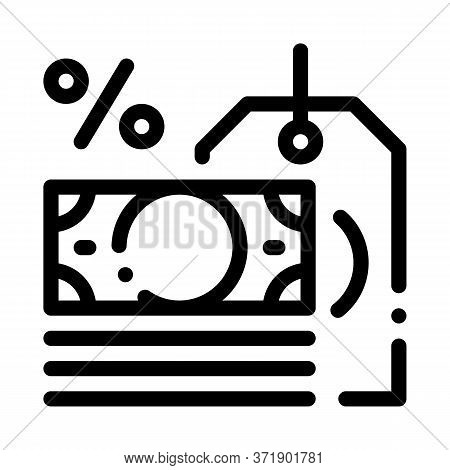 Interest Is Money Icon Vector. Interest Is Money Sign. Isolated Contour Symbol Illustration