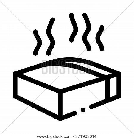 Melt Piece Of Cheese Icon Vector. Melt Piece Of Cheese Sign. Isolated Contour Symbol Illustration