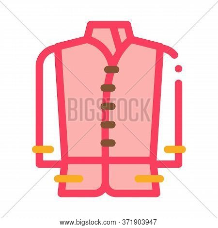 Kind Of National Men Costume Icon Vector. Kind Of National Men Costume Sign. Color Symbol Illustrati