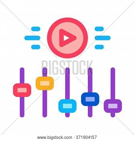 Movie Maker Settings Icon Vector. Movie Maker Settings Sign. Color Symbol Illustration