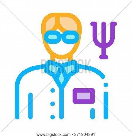 Scientific Medical Representative Of Psychology Icon Vector. Scientific Medical Representative Of Ps