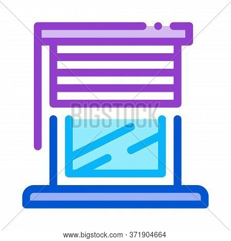 Window With Shutters Icon Vector. Window With Shutters Sign. Color Symbol Illustration