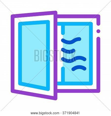 Draft In Window Icon Vector. Draft In Window Sign. Color Symbol Illustration