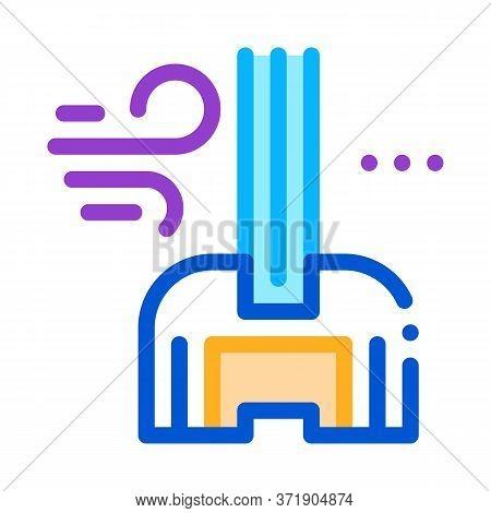 Windshield Window Glass Icon Vector. Windshield Window Glass Sign. Color Symbol Illustration