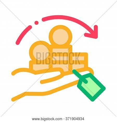 Renewal Re-investing Mountains Of Coins Icon Vector. Renewal Re-investing Mountains Of Coins Sign. C