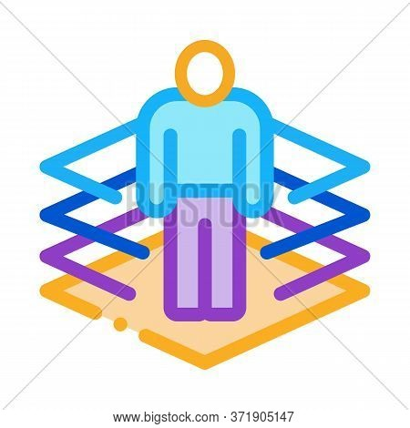 Transfer Of Man Into Virtuality Icon Vector. Transfer Of Man Into Virtuality Sign. Color Symbol Illu