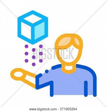 Virtual Reality Representative Icon Vector. Virtual Reality Representative Sign. Color Symbol Illust