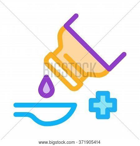 Drip Syrup Into Spoon Icon Vector. Drip Syrup Into Spoon Sign. Color Symbol Illustration