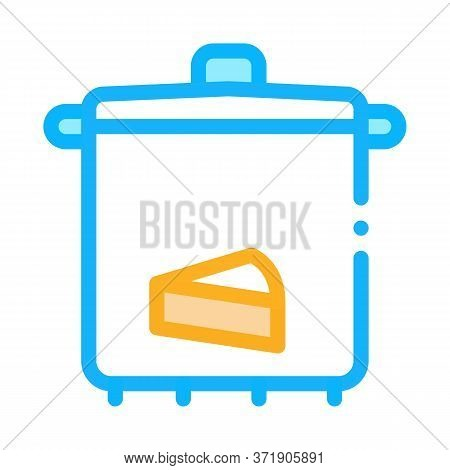 Cheese Soup Pan Icon Vector. Cheese Soup Pan Sign. Color Symbol Illustration