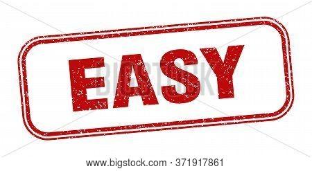 Easy Stamp. Easy Square Grunge Sign. Label