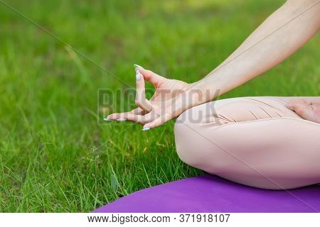 Woman Exercising Pose Vital And Meditation For Fitness Lifestyle Club