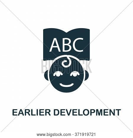 Earlier Development Icon. Simple Element From Child Development Collection. Creative Earlier Develop