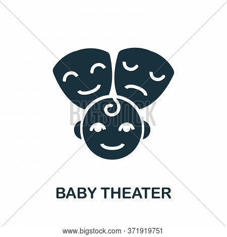Baby Theater Icon. Simple Element From Child Development Collection. Creative Baby Theater Icon For