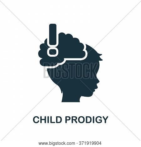 Child Prodigy Icon. Simple Element From Child Development Collection. Creative Child Prodigy Icon Fo