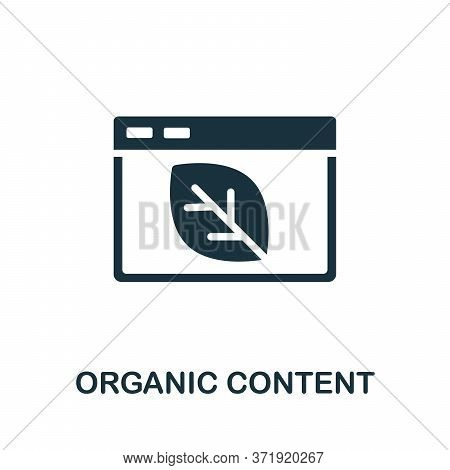 Organic Content Icon. Simple Element From Content Marketing Collection. Creative Organic Content Ico